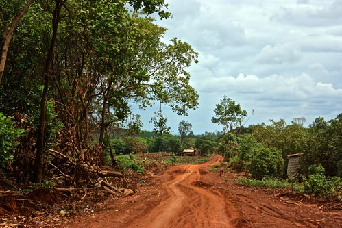 a windy dirt road