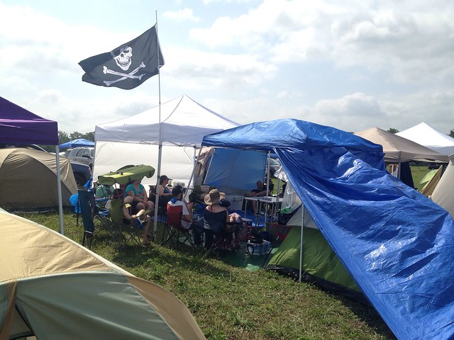 Bonnaroo 2013 - Another view of our camping area.  14 people, 7 tents, 6 popups.