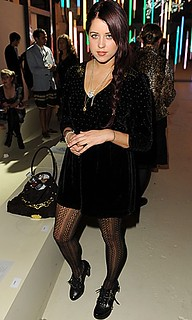 Peaches Geldof Patterned Tights Celebrity Style Women's Fashion