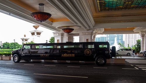 Hummer limousine at Galaxy