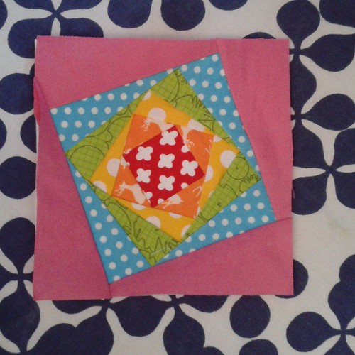 Block for front of sewing kit, for @fatquarterly swap. 2 more to make. :-)