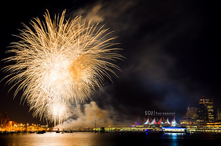 Canada Place Fireworks, Vancouver, BC