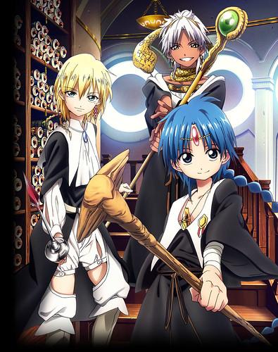 130717(3) – 電視動畫《マギ》(MAGI魔奇少年)將在10月開播第2期、學院新角色「緹特斯、斯芬托斯」海報出爐!