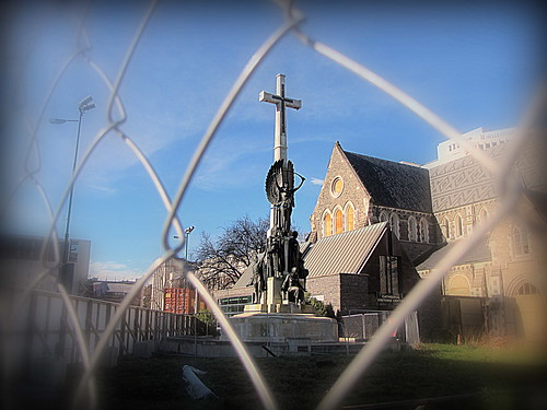 the Christchurch Cenotaph has now being protected ...