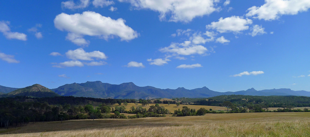 Main Range from Croftby Lake Moogerah Road