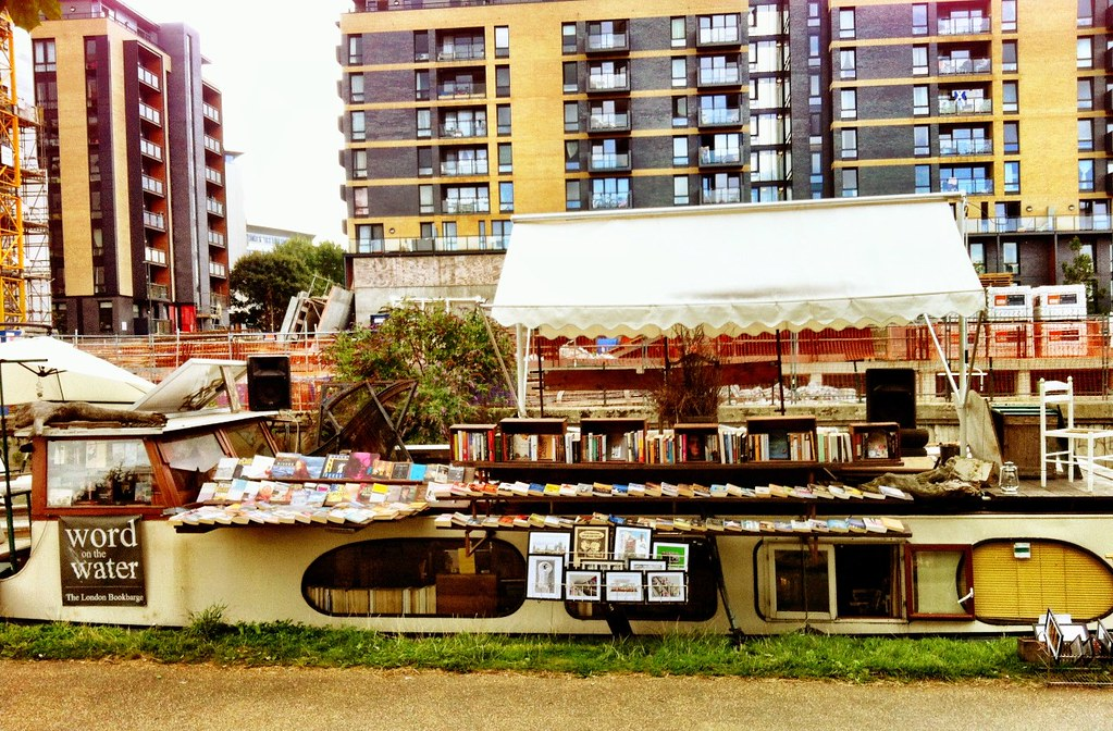 Word on the Water - houseboat bookstore on the canal near Mile End