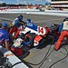 The A.J. Foyt Enterprises team go to work on Takuma Sato's car during the GoPro Grand Prix of Sonoma