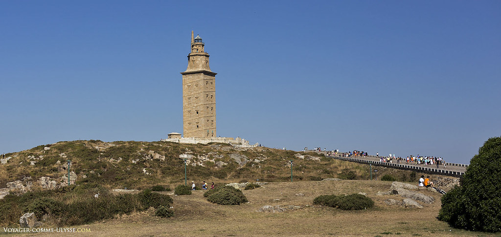 Today's lighthouse, very restored, is very different from roman ages.