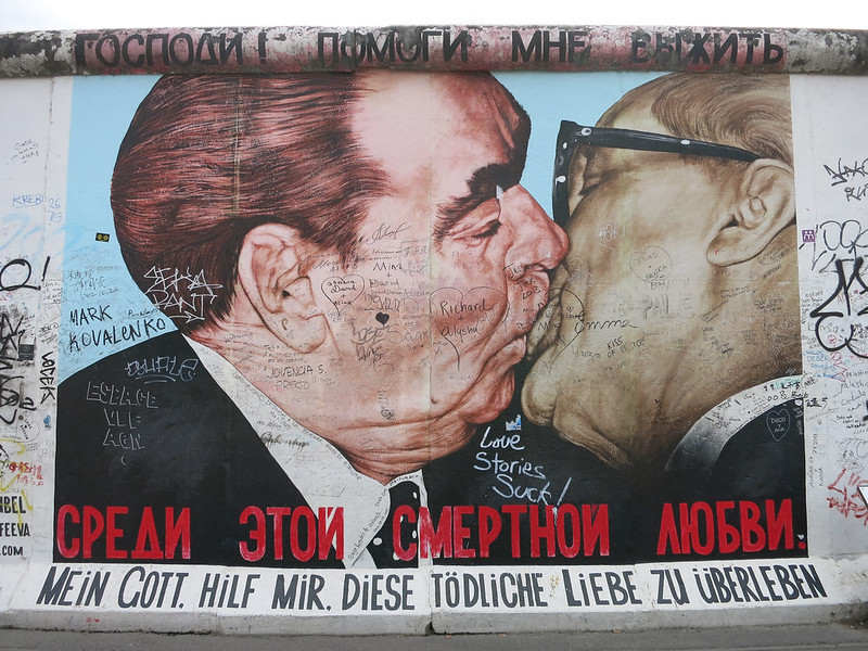 The Communist kiss.