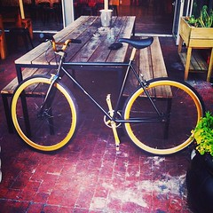 My bicycle... Black and Gold