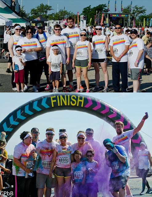 nyc color run 2013 team marathon flickr photo