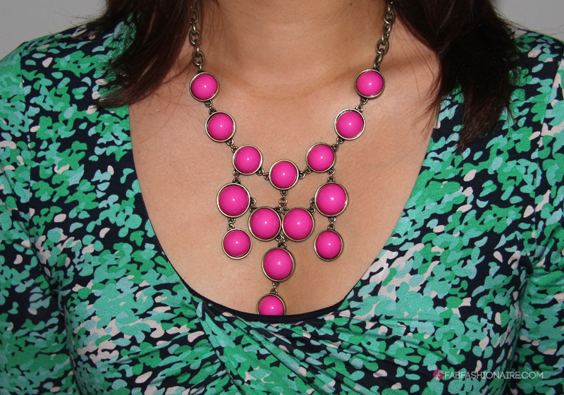 Statement necklace - pink