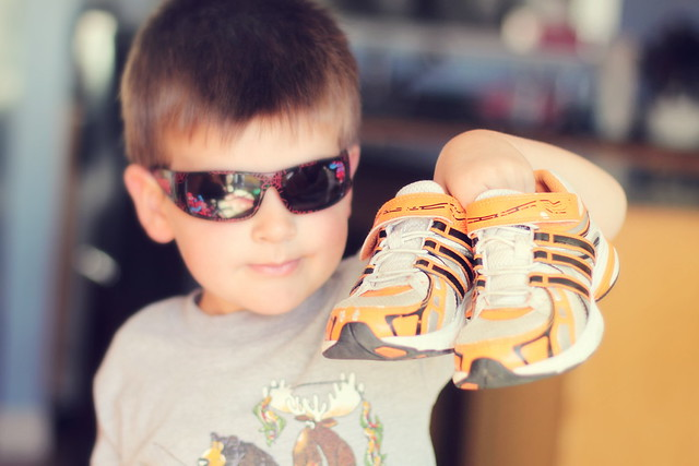 Cool Kid with Cool New Shoes