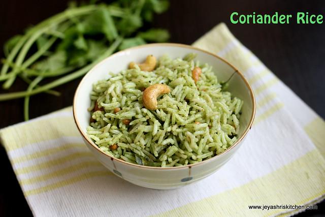 coriander -rice