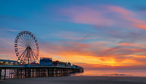 Central Pier at sunset 5
