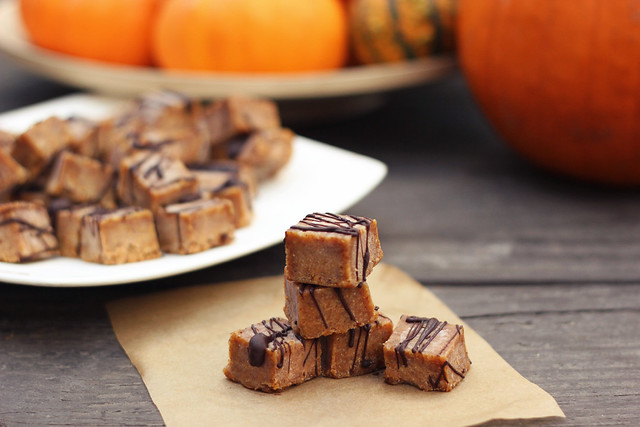 Vegan Pumpkin Spice Almond Butter Fudge (Gluten-Free)