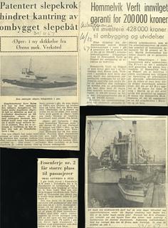 Ørens mekaniske Verksted - Avisutklipp (1957)