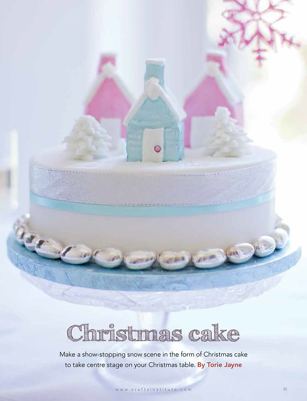 Christmas Cake in Making magazine