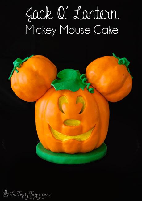 jack-o-lantern-Mickey-mouse-cake-