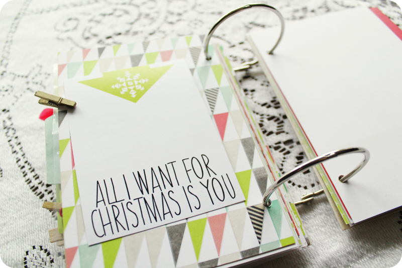 {christmas countdown kit} assembling my minibook | graphic card