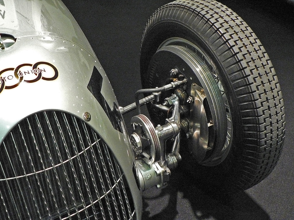 Auto Union Type C Rennwagen 1937 front suspension