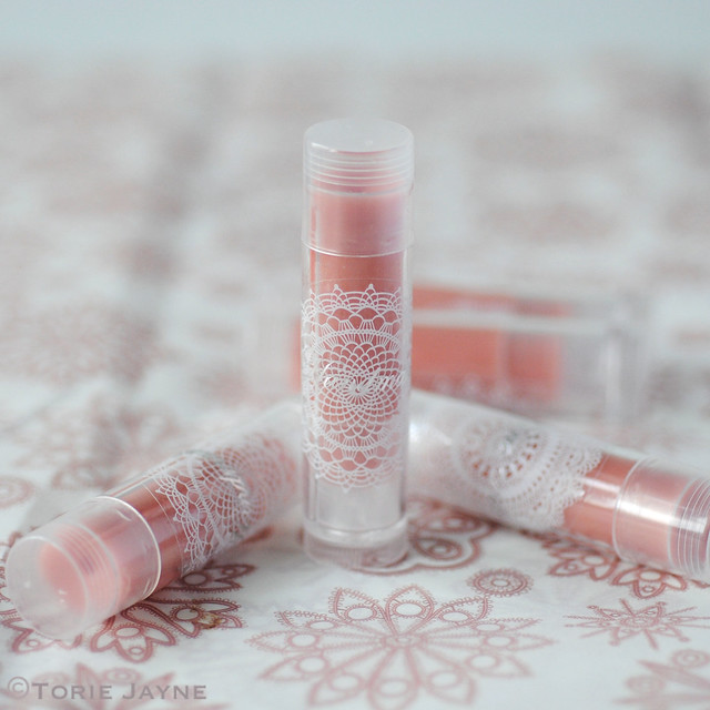 Handmade rose lip balm