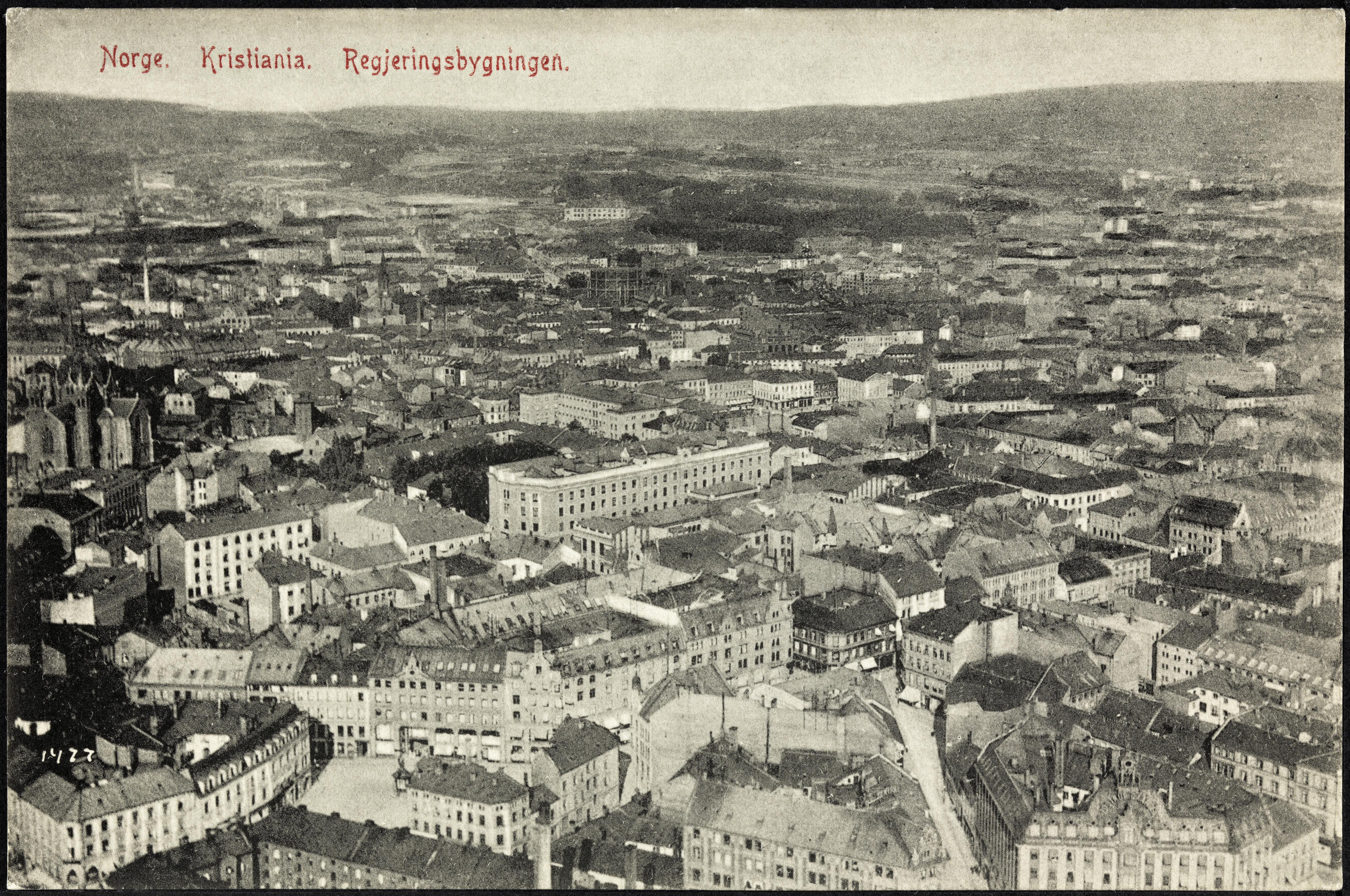 Norge. Kristiania. Regjeringsbygningen, 1906