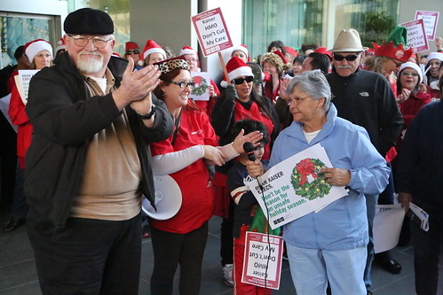 Seniors protest at Kaiser HQ