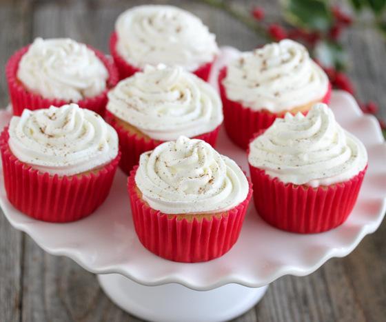 photo of eggnog cupcakes