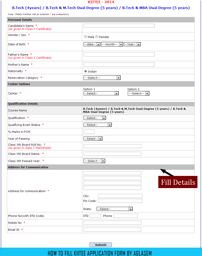 KIITEE 2014 Application Form