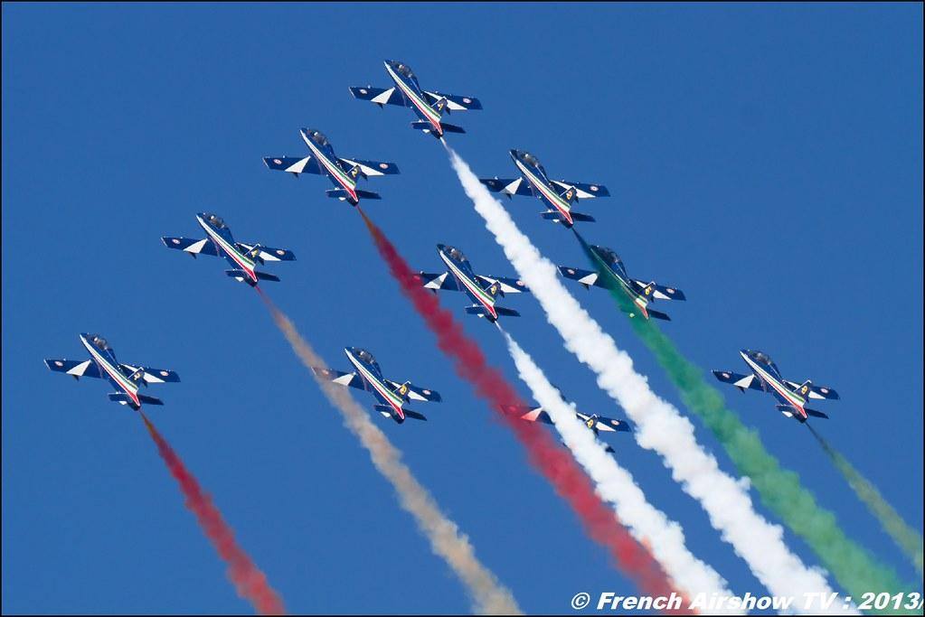 Freece Tricolori (Patrouille Italienne) 60 ans Patrouille de France, Meeting Aerien 2013