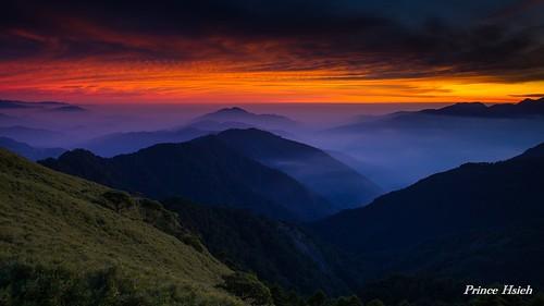sunset clouds taiwan 南投 日落 合歡山 nantou hehuanmountain 夕彩 sonya850 sony2470za