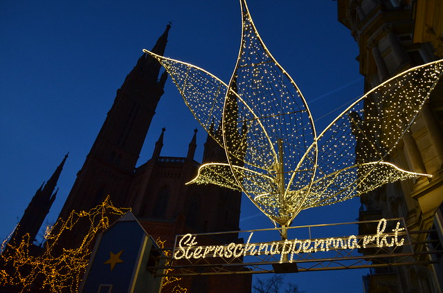 Wiesbaden Sternschnuppenmarkt entrance