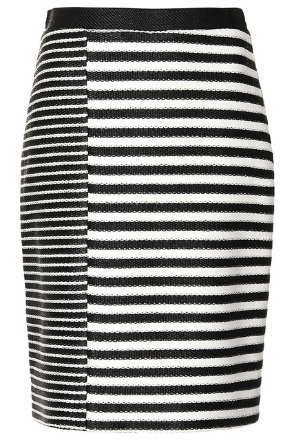 topshop unique raffia stripe skirt