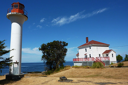 Georgina Point Lighthouse on Mayne Island, Southern Gulf Islands, British Columbia