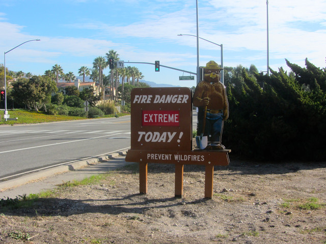 extreme fire danger in malibu