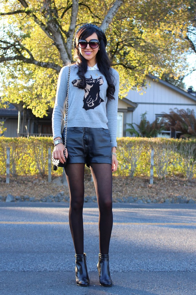 Leather Shorts, Sequin Beret 5