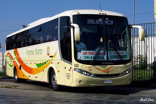 TACC Expreso Norte en Santiago | Comil Campione 3.45 / DKFY79