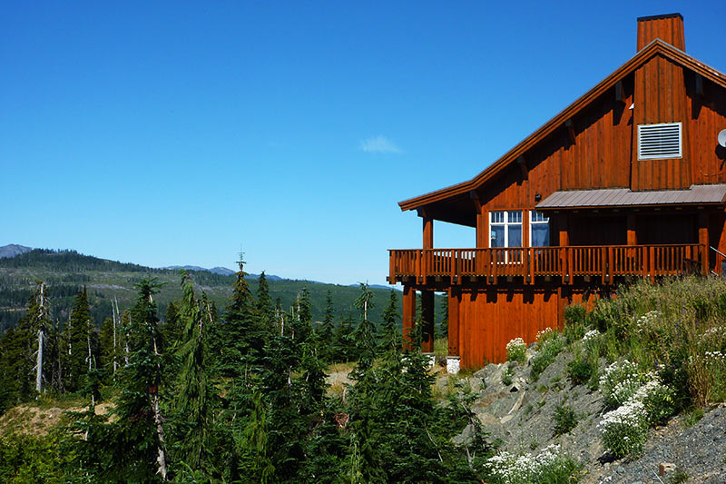 Raven Lodge, Paradise Meadows, Strathcona Provincial Park, Central Vancouver Island, British Columbia, Canada
