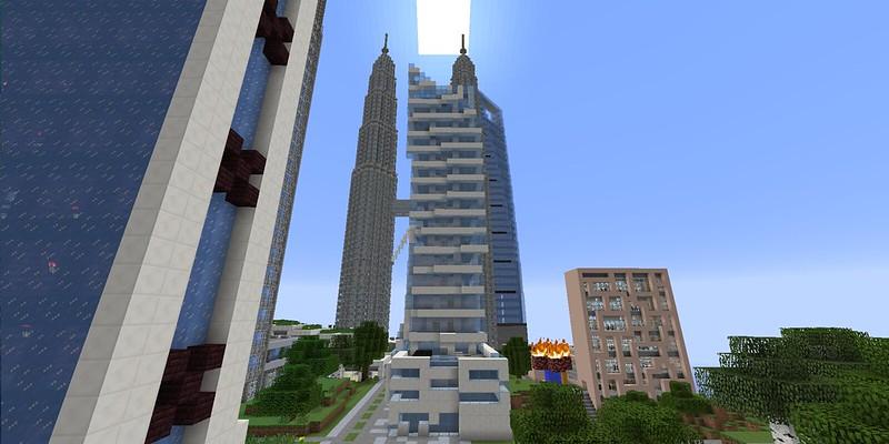 Minecraft World Map Skyscraper City E Land Creative