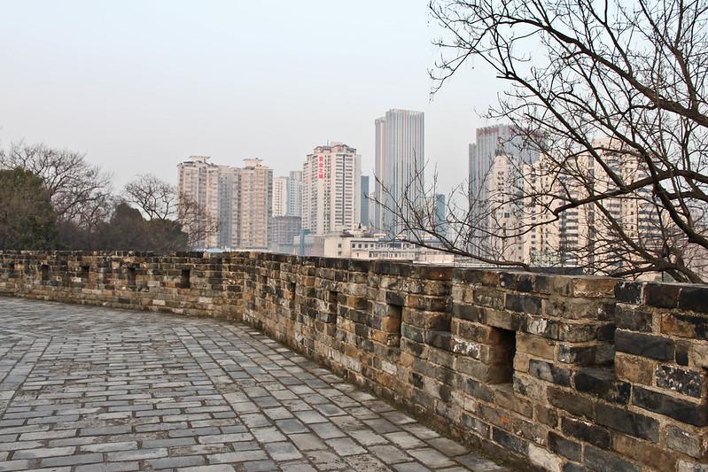 Muralla de la ciudad de Changsha, en China.