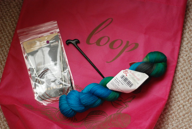 Loop Islington Wollmeise yarn haul Stromboli and shawl pin