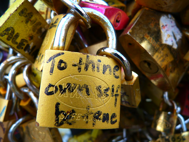 Paris Love Locks, To thine own self be true