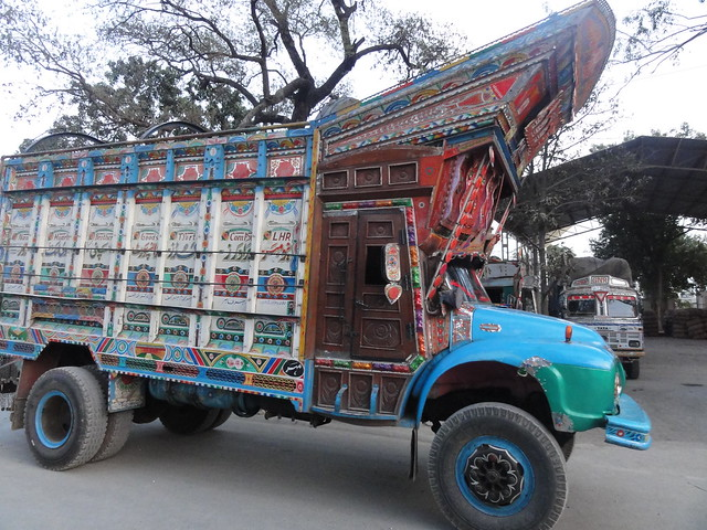 Beautiful trucks from Pakistan with beautiful paintings