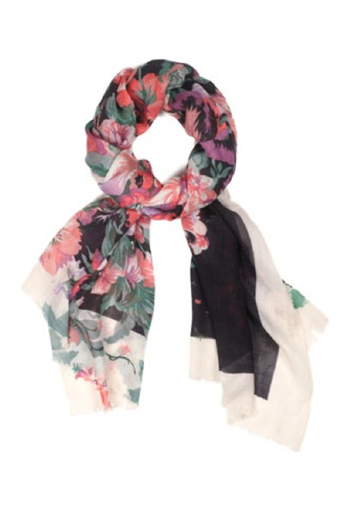 "Pink ""Flowery"" Scarf"