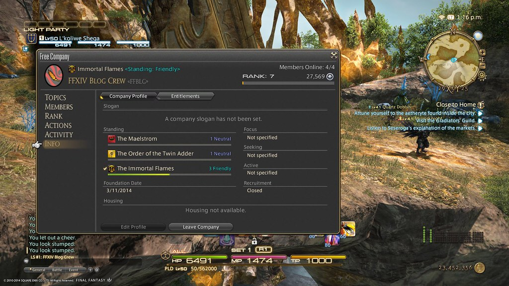 Final Fantasy XIV: A Realm Reborn - Linkshells and Free