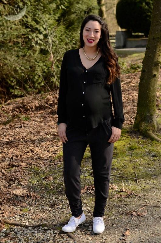 9 Months Maternity Outfit: Nicole Bridger + KEDS