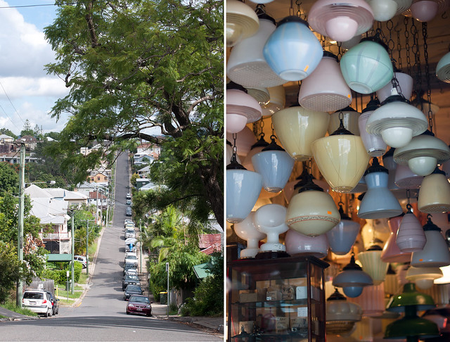 street and lanterns