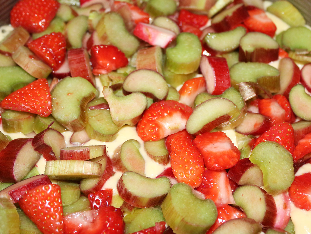 Erdbeer-Rharbarbarkuchen