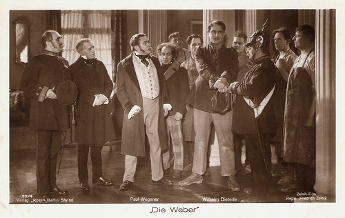 Wilhelm Dieterle and Paul Wegener in Die Weber (1927)